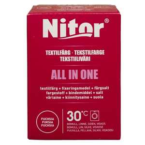 Textilfärgningsmedel Nitor All in one Fuchsia 230g