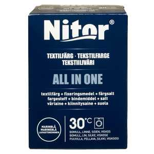 Textilfärg Nitor All in One Marinblå 350g