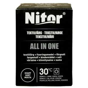 Textilfärg Nitor All in One Svart 230g
