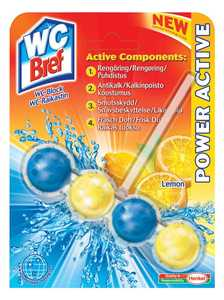 Rengöringsmedel Wc Bref  Power Active Lemon 53g