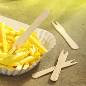 Pommes Frites Gaffel Papstar Pure 8.5cm 1000st extra bild 1