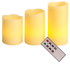 LED-ljus Star Vax 3-pack Vit
