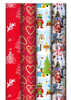 Julpapper 10mx70cm 4-designs - Art.nr 15779901