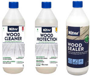 Minipaket Nitor Wood Care - 3 x 1L
