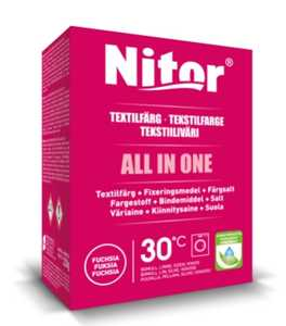 Textilfärg Nitor All in One Fuchsia 230g