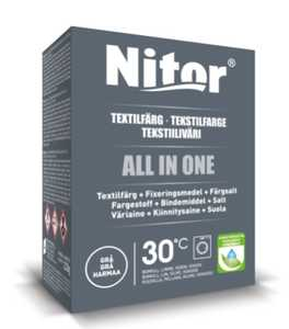Textilfärg Nitor All in One Grå