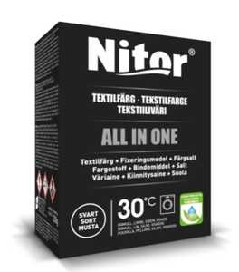 Textilfärg Nitor All in One Svart