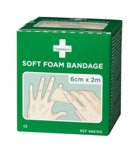 Bandage Cederroth Soft Foam Natur 6x200cm 2-pack