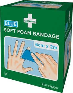 Bandage Cederroth Soft Foam Blå 6x200cm 2-pack