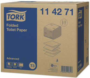 Toalettpapper Tork Vikt Advanced T3 Vit 8712ark