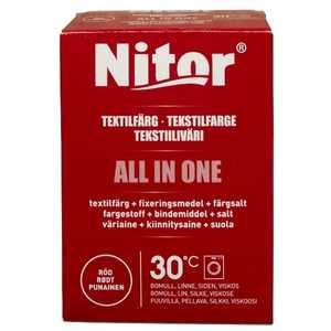 Textilfärg Nitor All In One Röd 230g