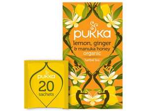 Te Pukka Lem Ginger Manuka Honey 20st