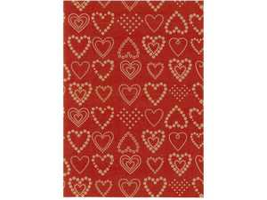 Julpapper Hedlunds Dotted Hearts 57cmx154m